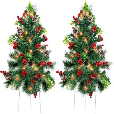 80 x Clear Christmas Lights Multi Function Christmas Tree Garden Decoration