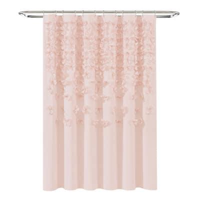 72 in. x 72 in. Blush Single Lucia Shower Curtain