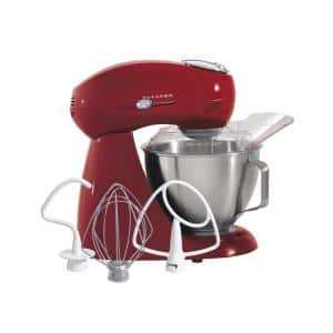Eclectrics 4.5 Qt. 12-Speed Red All-Metal Stand Mixer