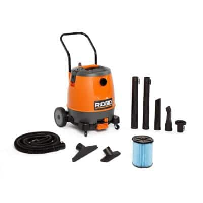 16 Gal. 6.5-Peak HP Motor-On-Bottom Wet/Dry Shop Vacuum with Fine Dust Filter, Hose and Accessories