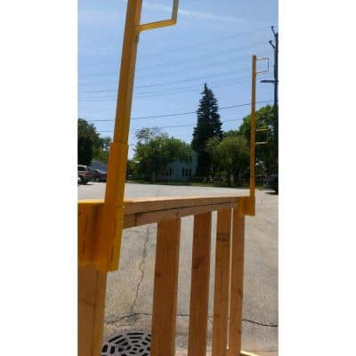 Vertical Guardrail System Bracket and Post
