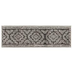 Dark Grey 9 in. x 28 in. Polypropylene Carpet Stair Tread Cover (Set of 13) Shag Stair Treads
