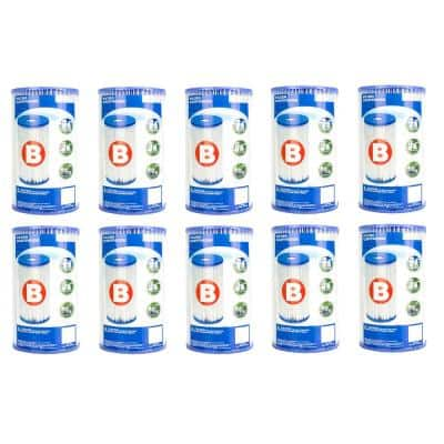 13.5 sq. ft. 5.75 in. Dia Type B Pool Replacement Filter Cartridge (10-Pack)