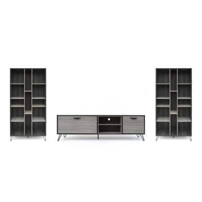 Bramhall 3-Piece 71.1 in. Sonoma Grey Oak Entertainment Center with 2-Drawer Fits TV's up to 70 in. with Shelves