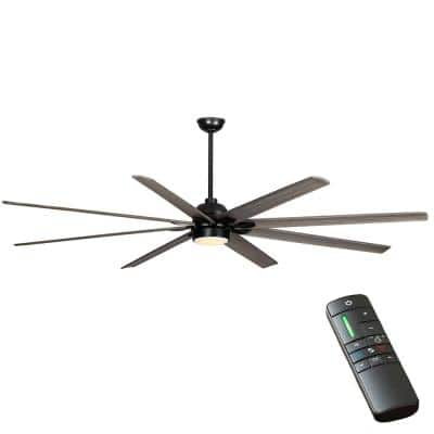 Cordoba DC 96 in. Integrated LED Indoor/Outdoor Matte Black Ceiling Fan with Light and Remote Control