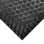 Coin Grip 4 ft. x 8 ft. Dark Grey Commercial Grade PVC Flooring
