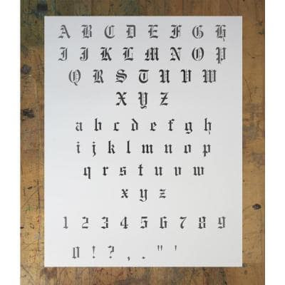 0.5 in. Old English Font Stencil