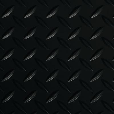 Diamond Tread 7.5 ft. x 17 ft. Midnight Black Commercial Grade Vinyl Garage Flooring Cover and Protector