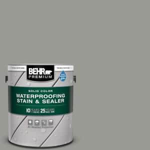 1 gal. #SC-143 Harbor Gray Solid Color Waterproofing Exterior Wood Stain and Sealer
