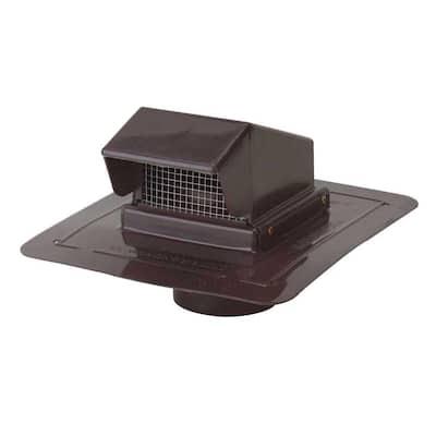 4 in. Brown Plastic Roof Cap Vent