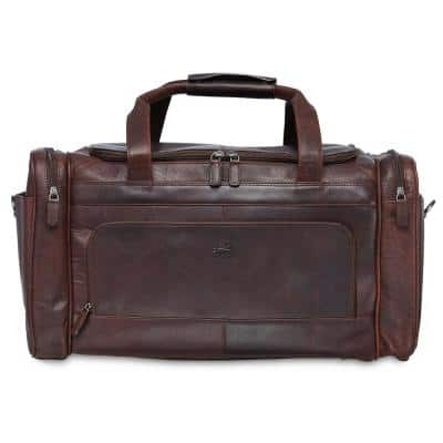Buffalo Collection 20 in. x 10.75 in. x 10.75 in. (W x D x H) Brown Leather 20 in. Carry on Duffel Bag