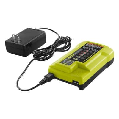 40-Volt Lithium-Ion Charger with USB Port