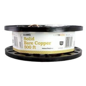 500 ft. 8/1 Solid Bare Copper Grounding Wire