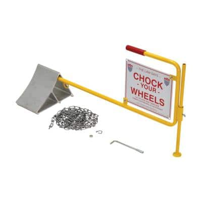 Aluminum Wheel Chock with Flag