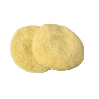6 in. Wool Polishing Bonnets (2-Pack)