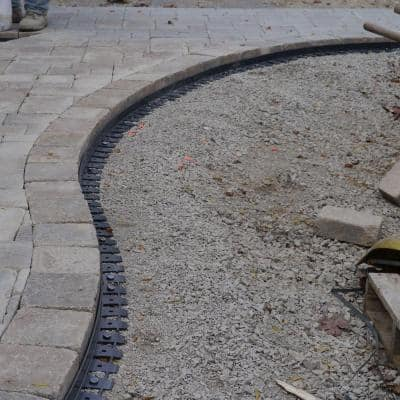6 ft. Paver Edging in Black