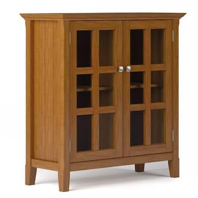 Acadian Light Golden Brown Low Storage Accent Cabinet