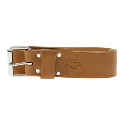 2 in. x 48 in. Premium Leather Roller Buckle Tool Belt Bag