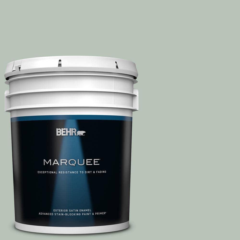 Behr Marquee 5 Gal Mq6 18 Recycled Glass Satin Enamel Exterior Paint Primer 945405 The Home Depot