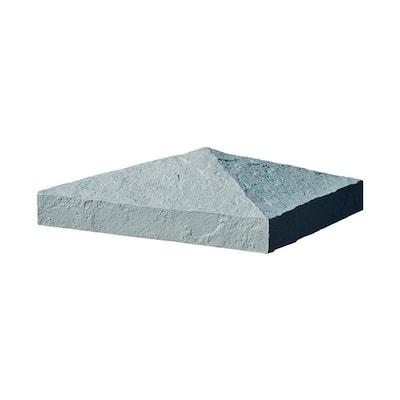 Slatestone 10-1/2 in. x 10-1/2 in. x 3-1/2 in. Gray Faux Polyurethane Stone Post Cover Cap