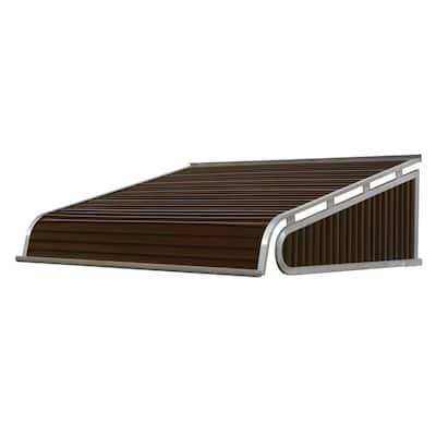 4 ft. 1500 Series Door Canopy Aluminum Awning (12 in. H x 42 in. D) in Brown