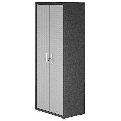 Steel Freestanding Garage Cabinet in Gray (30 in. W x 75 in. H x 18 in. D)