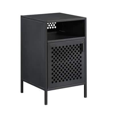 Boulevard Cafe 1-Door Black Nightstand