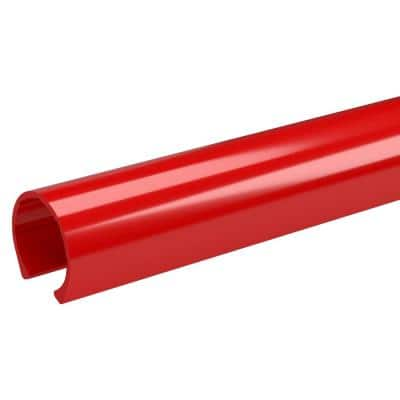 1-1/4 in. x 3.33 ft. Red PVC Pipe Clamp Material Snap Clamp (2-Pack)