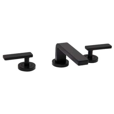 Vector 8 in. Widespread 2-Handle Bathroom Faucet in Matte Black