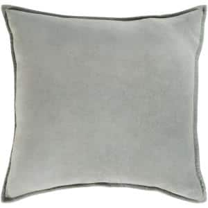 Velizh Medium Gray Solid Polyester 19 in. x 20 in. Throw Pillow