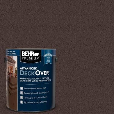 1 gal. #PFC-25 Dark Walnut Textured Solid Color Exterior Wood and Concrete Coating