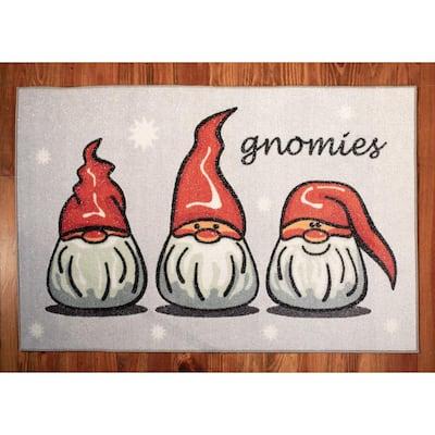 Gnomies 31 in. x 49 in. Indoor Holiday Scatter