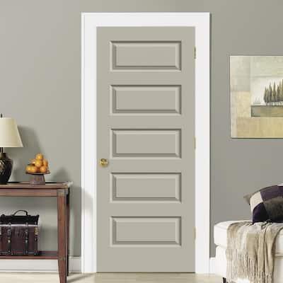 30 in. x 80 in. Rockport Primed Smooth Molded Composite MDF Interior Door Slab
