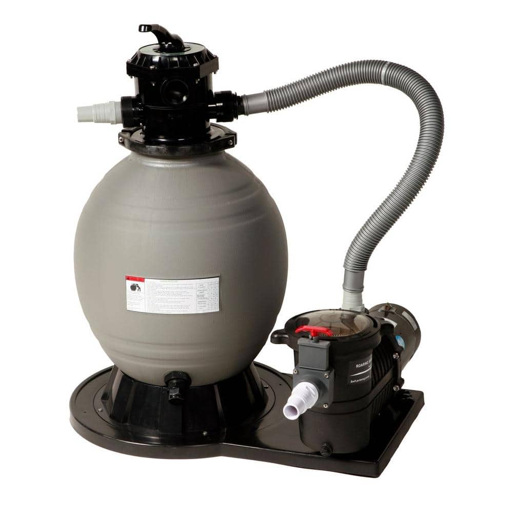 Blue Wave Sandman Above Ground Sand Filter System With 1 0hp Pump 1 77 Sq Ft Filtration Area Ne6150 The Home Depot