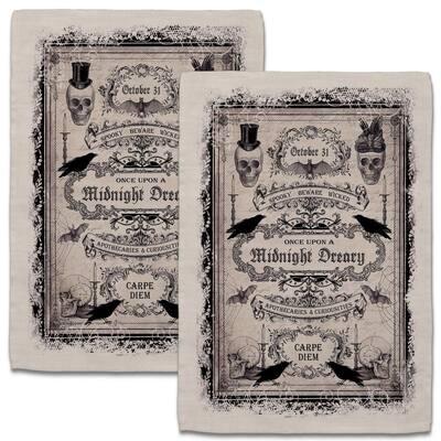 Curiosities 18 in. x 26 in. Natural Tea Towel (Set of 2)