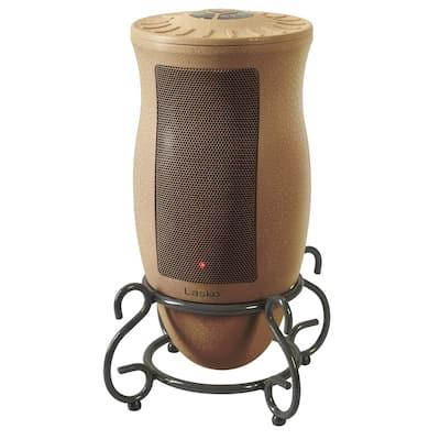 Designer Series 1500-Watt Electric Ceramic Oscillating Space Heater with Remote Control