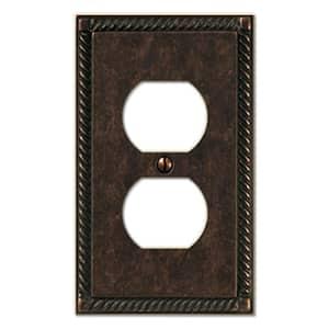Bronze 1-Gang Duplex Outlet Wall Plate (1-Pack)