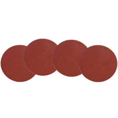 12 in. 240-Grit Adhesive-Backed Disc Sandpaper (4-Pack)