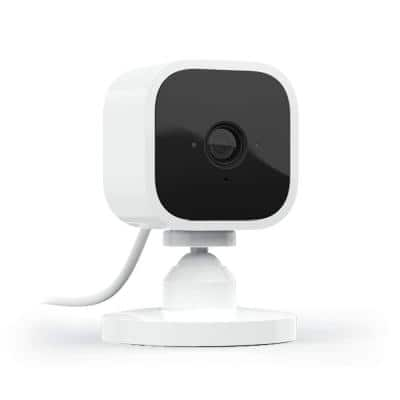 Mini Indoor Wired 1080p Wi-Fi Security Camera in White