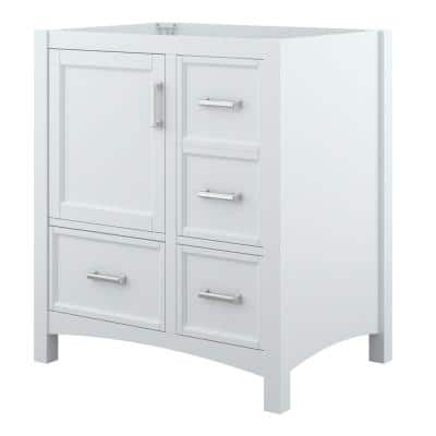 Everleigh 30 in. W x 22 in. D x 33.4 in. H Bath Vanity Cabinet Only in White