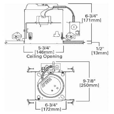 E26 5 in. Air-Tite IC Rated New Construction Aluminum Recessed Housing for Ceiling, Insulation Contact
