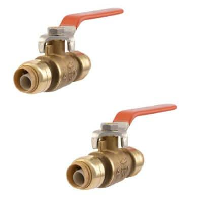 1/2 in. Push-to-Connect Brass Ball Valve (2-Pack)