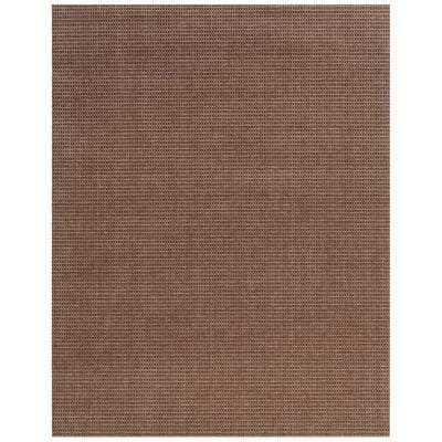 Checkmate Taupe/Walnut 6 ft. x 8 ft. Plaid Area Rug