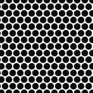 Cascades Black 11.5 in. x 12.5 in. Penny Round Gloss Porcelain Mesh-Mounted Mosaic Tile (1.00 sq. ft./Each)