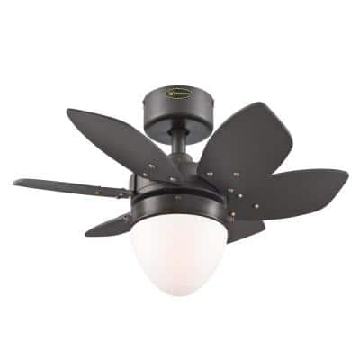 Origami 24 in. LED Espresso Ceiling Fan with Light Kit