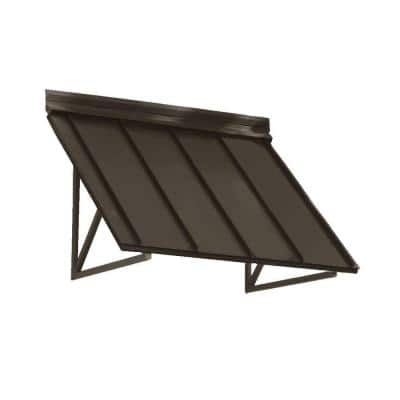 5.6 ft. Houstonian Metal Standing Seam Awning (68 in. W x 24 in. H x 24 in. D) in Bronze
