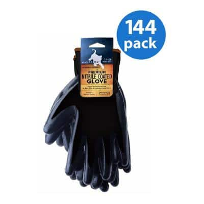 Premium Smooth Finish Nitrile Coated Glove - 144 Pair Value Pack