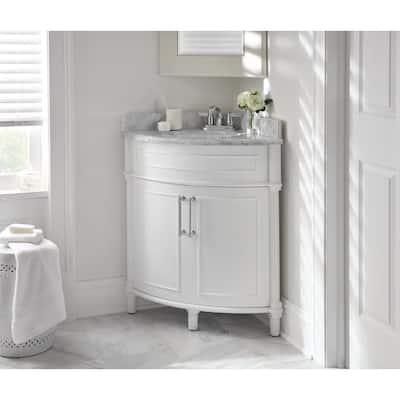 Corner Bathroom Vanities Bath The Home Depot