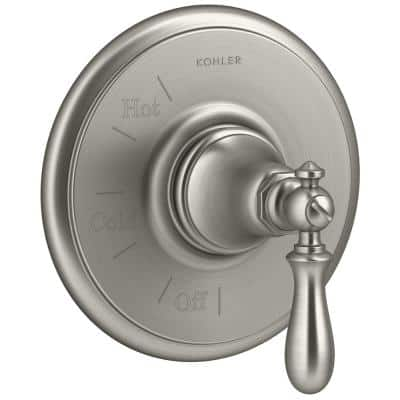 Artifacts 1-Handle Wall-Mount Tub and Shower Faucet Trim Kit in Vibrant Brushed Nickel (Valve Not Included)