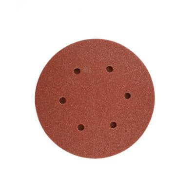 6 in. 60-Grit Random Orbital Sanding Disc with Hook and Lock Backing (10-Pack)
